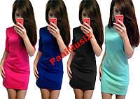 Модное трикотажное платье футляр Baby 5 цветов, фото 1