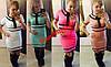 Модное трикотажное платье с воротником 4 цвета YOU STYLE AV638
