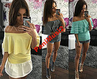 Майка футболка реглан туника блузка рубашка №77