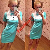Платье футляр бабочка дайвинг AV281