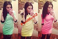 Платье  туника с воротником школьница Мини , фото 1