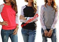 Роскошная кофта рубашка реглан туника блузка гипюр
