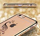 Чехол силиконовый Electroplating Diamond для iPhone 6/6s Peacock Gold, Винница, фото 2