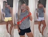 Костюм Морячка майка футболка + шорты шорти 27, фото 1