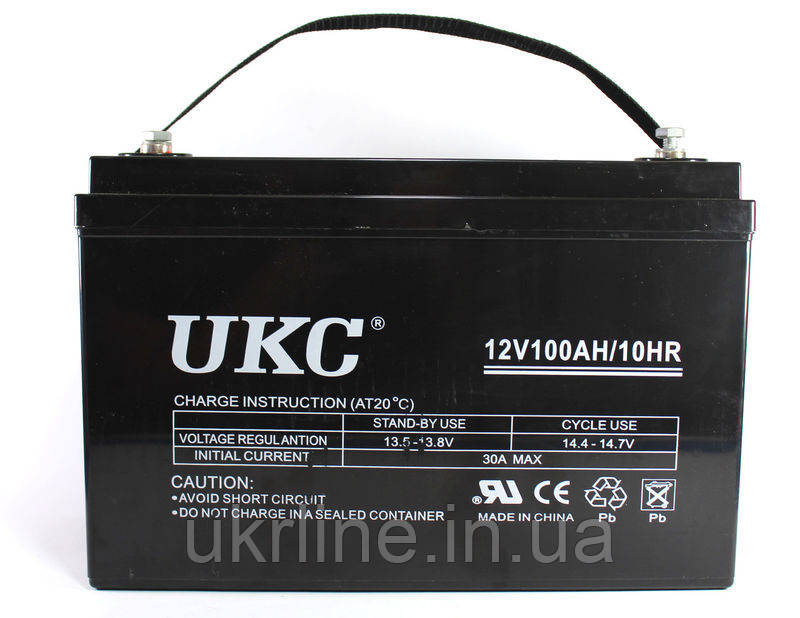 Аккумулятор BATTERY GEL 12V 100A UKC, аккумуляторная батарея, свинцово кислотный аккумулятор 12V - Интернет-магазин UkrLine в Киеве