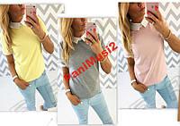 Майка футболка Туника блузка рубашка воротник №48, фото 1