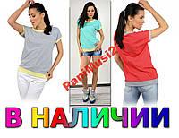 Майка футболка реглан туника блузка рубашка №100, фото 1