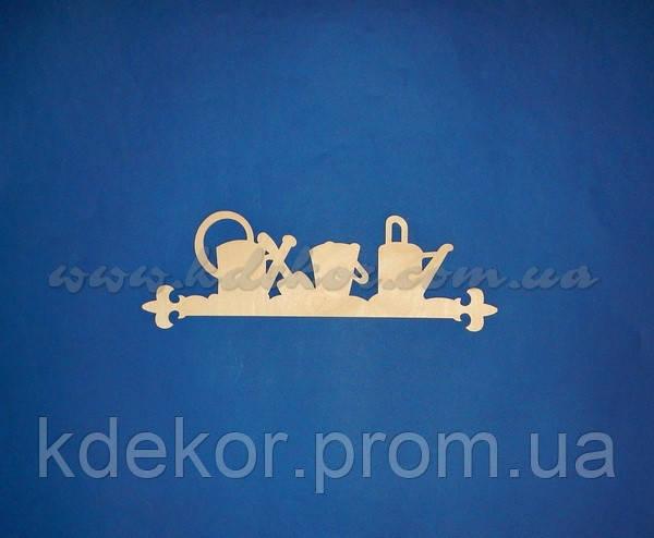 Заготовка панно (ключница) с лейками для декупажа и декора