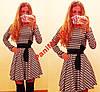 Платье Куколка французский трикотаж клетка №229