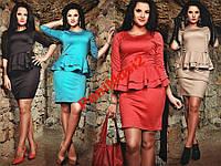 Платье трикотаж с Баской 48/50/52/54 casual NS5981, фото 1