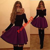 Платье Куколка Французский трикотаж + кружево №251