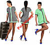 Модное трикотажное платье туника сарафан НН704