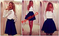 Платье Куколка Комбинация трикотаж + гепюр №126, фото 1