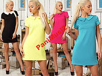 Платье Кокетка с воротником 6 цветов 4386AV032, фото 1