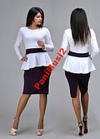 Платье футляр с баской цены опт распродажа Н152