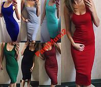 Платье Майка туника миди сарафан в наличии №54, фото 1