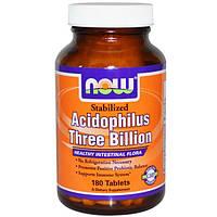 Пробиотики Now Foods, Acidophilus 180 таблеток,