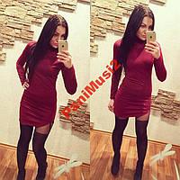 Платье гольф туника футляр карандаш красный, фото 1