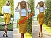 Модное стильное трикотажное платье футляр №89