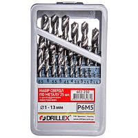 Набор сверл по металлу Р6М5  25шт.  1,0-13,0мм