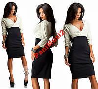 Модное черно белое платье футляр из Дайвинга №214, фото 1