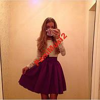 Платье Куколка Комбинация трикотаж + гепюр №250