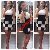 Сарафан платье футляр smart casual Шахматка NS636