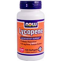 Ликопин, натуральный витамин, для иммунитета, Now Foods Lecopene, 120 капсул