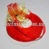 Лента из органзы, шир.10 мм, цвет красный