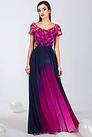 Вечерное длинное шифоновое платье