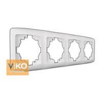 Рамка 4-я вертикальная ViKO Carmen