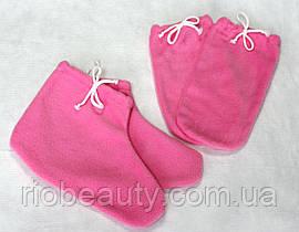 Набор для парафинотерапии варежки + носочки  флис
