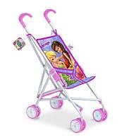 Коляска детская игрушечная трость, металл, поворотные колеса