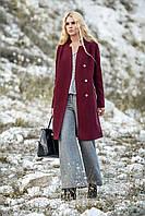 Лаконичное женское демисезонное шерстяное пальто размеры 42-52