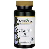 Витамин А, Бета Каротин, для иммунитета, Swanson, 10 000 мкг, 250 капсул