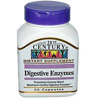 Энзимы для улучшения пищеварения, 7 ферментов, 21 st century, 60 капсул