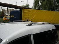 Рейлинги Volkswagen Caddy Maxi, Фольксваген кадди 2004 - 2015 длинна база хром (пластиковая ножка)