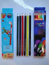 Карандаши 06-цветов, 9688-6 STAR COLOR