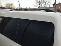 Рейлинги Volkswagen Caddy Maxi, Фольксваген кадди 2004 - 2015 длинна база черный (пластиковая ножка)
