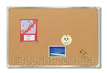 Доска пробковая, алюм.рамка, 45х60