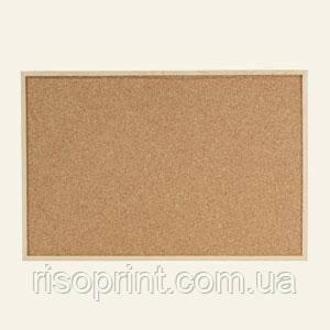 Доска пробковая, алюм.рамка, 60х90
