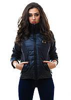 Женская стильная  куртка (осень/весна) р. S.M.L черная