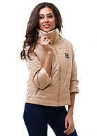 Женская стильная  куртка (осень/весна) р. S.M.L беж