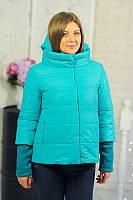 Женская куртка (осень/весна) Фреш голубая  р. 42-50
