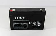 Аккумуляторная батарея BATTERY 6V 7A UKC, герметичный кислотно-свинцовый аккумулятор