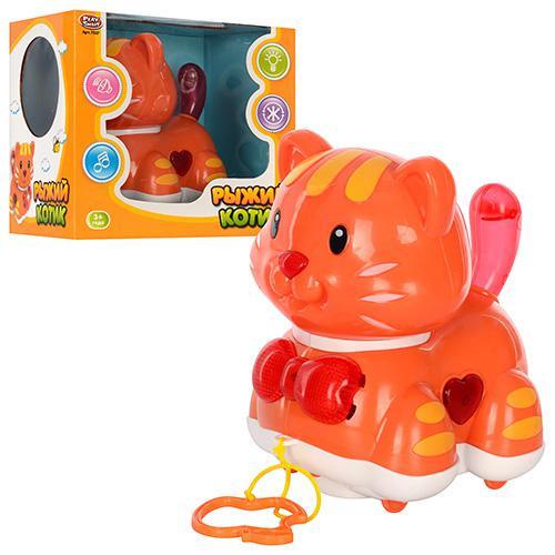 Музыкальная игрушка рыжий котик 7337