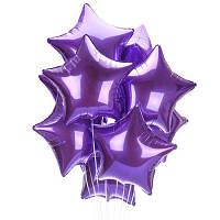 Фонтан  - из фольгированных звезд (фиолетовые). Гелиевые шары Киев. Гелиеве шары Троещина.