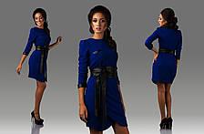 Платье рифленый трикотаж с эко кожей, фото 2