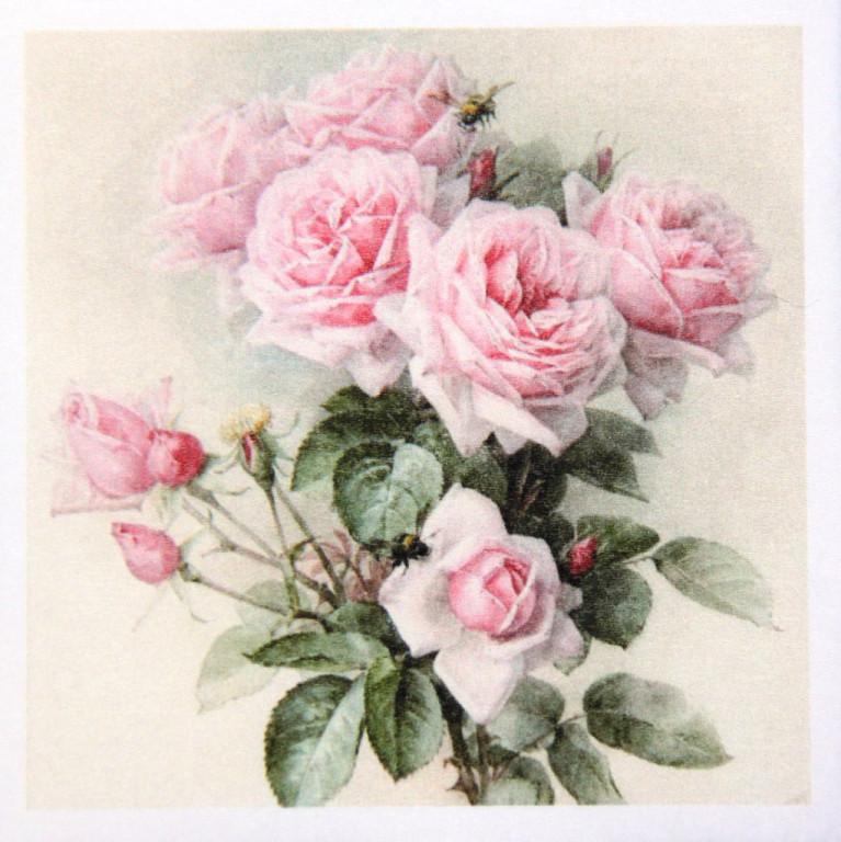 Редкая салфетка декупажная Розы