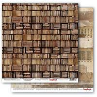 Бумага для скрапбукинга Старая Библиотека Scrapberry's, 1 шт